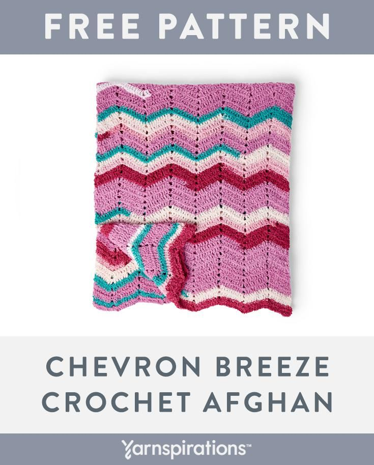 Free Crochet Afghan Pattern | Made with Bernat Blanket Breezy Yarn