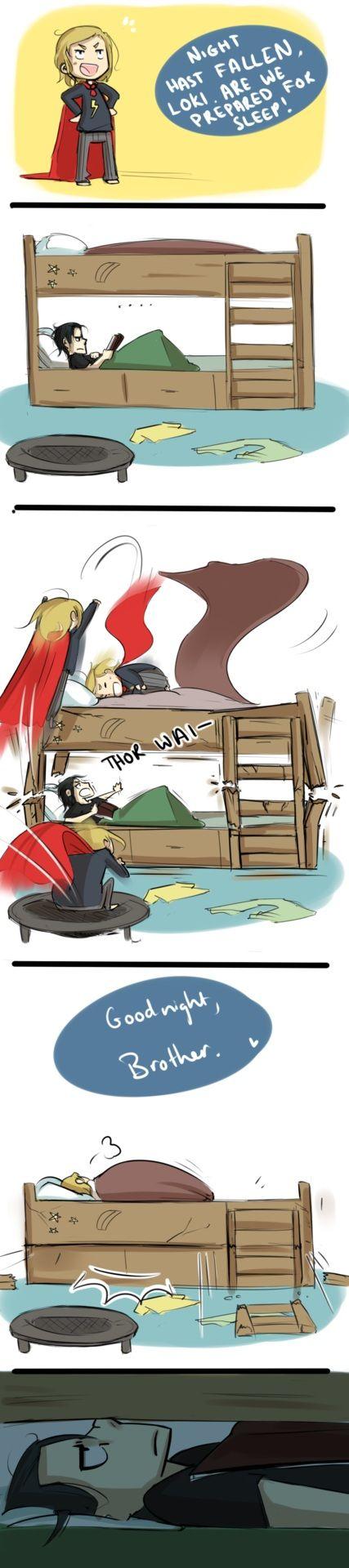 Adorable!  I love their Bro-ventures so much!!!! #Loki #Thor