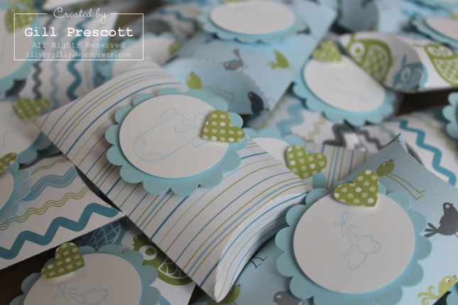 Cute! Baby shower pillow boxes