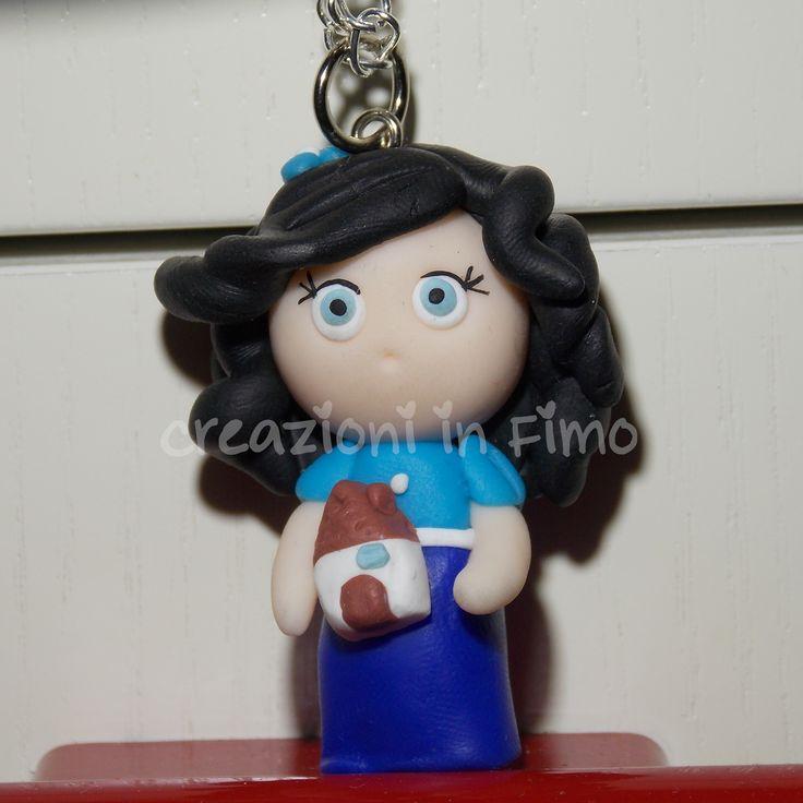 Bambolina realizzata in #fimo con casetta