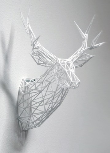 3-D Printed Stag Sculpture - as soon as my printer is working, i am sooo printing one of these