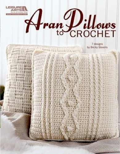LA4838 Aran Pillows to Crochet - http://www.maggiescrochet.com/aran-pillows-to-crochet-p-1666.html #crochet #pattern #aran #pillows #home #decor