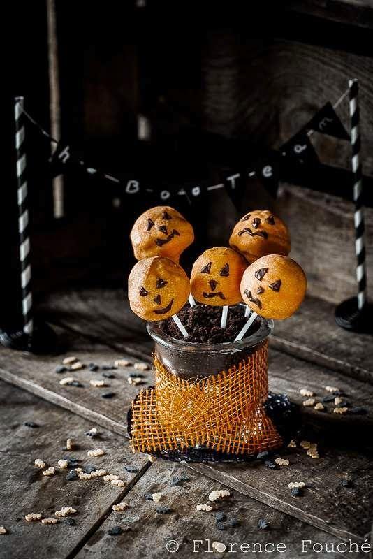 Gourmandises Chroniques: Goûter d'Halloween : Cake Pops Citrouille