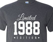 1988 Limited Edition 2015 27th Birthday Party Shirt, 27 years old shirt, limited edition 27 year old, 27th birthday party tee shirt TH-120