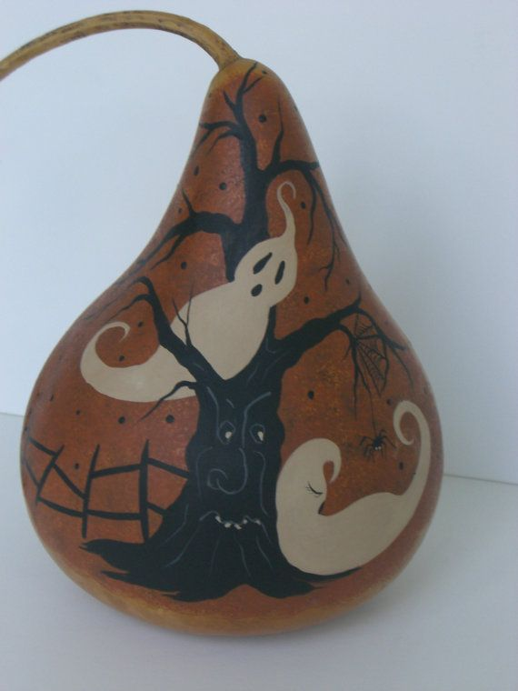Halloween Vintage Style Gourd Hand Painted by TheRootCellar, $25.00