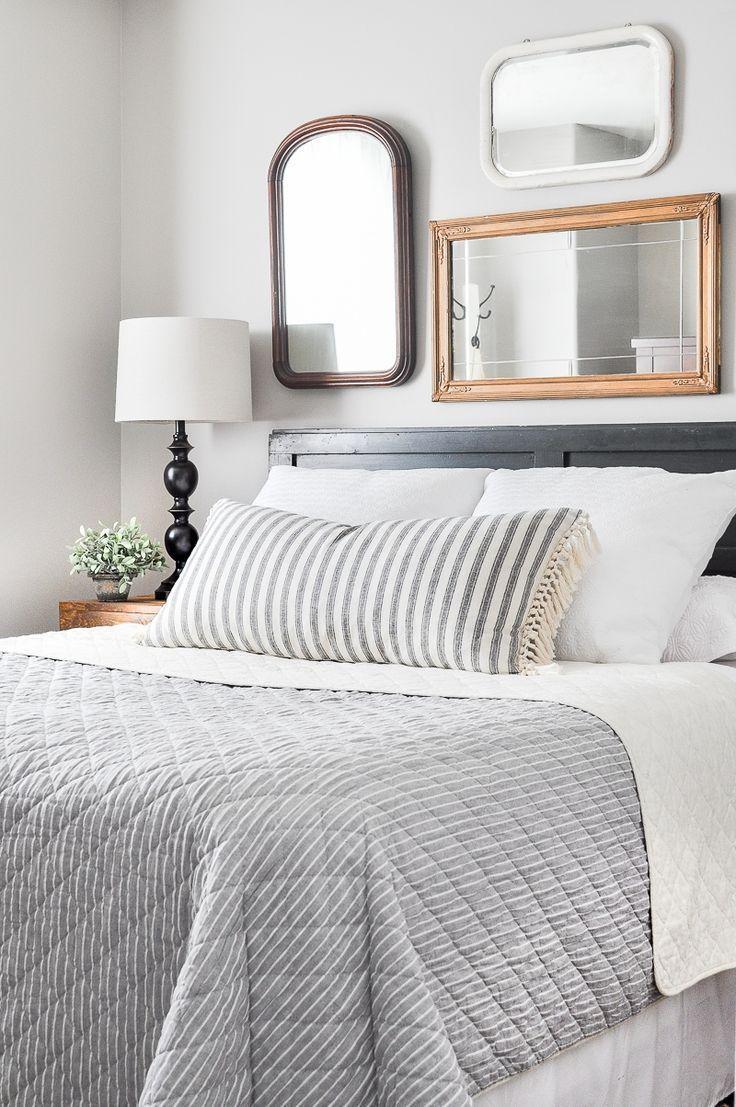 Guest bedroom vintage refresh diy wall art ideas pinterest