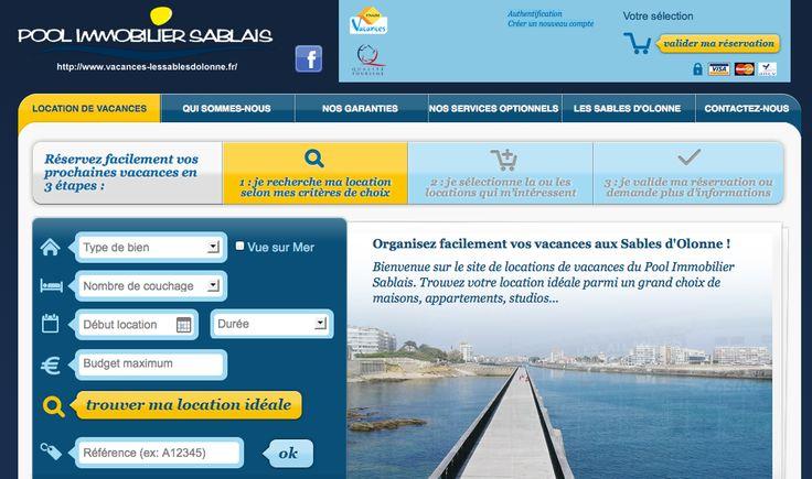 POOL IMMOBILIER SABLAIS - CONCEPTION DU SITE LOCATION DE VACANCES (2011) : analyse des besoins, conception et réalisation du site web, accompagnement stratégique.