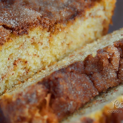 Amish Cinnamon Bread.  1  cup butter, softened    2  cups sugar    2  eggs    2  cups buttermilk or 2 cups milk plus 2 tablespoons vinegar or lemon juice    4  cups flour    2  teaspoons baking soda    Cinnamon/sugar mixture:    ⅔  cups sugar    2  teaspoons cinnamon
