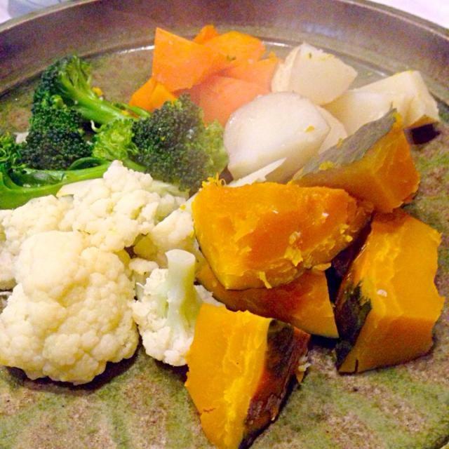 簡単、美味しい! 最高です。 - 1件のもぐもぐ - 季節の温野菜サラダ by satoh310tbU