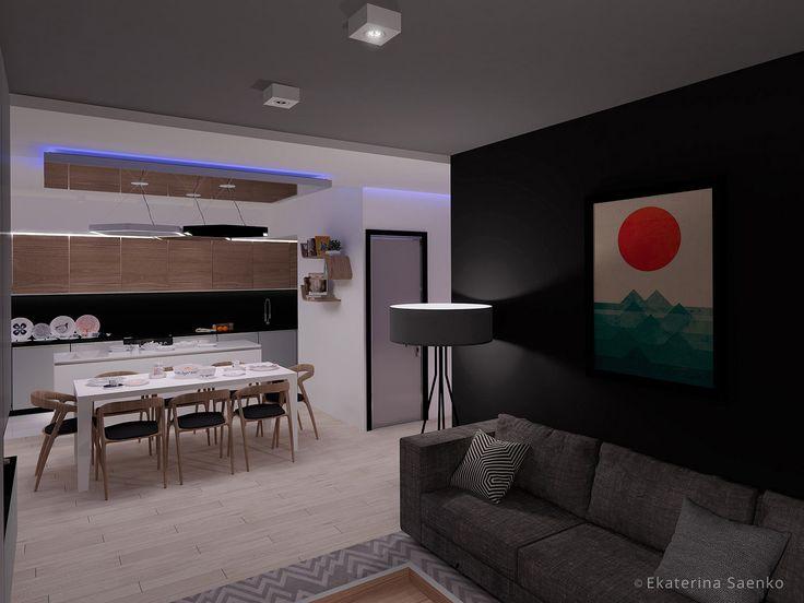 кухня скандинавский минимализм, квартира в стиле скандинавский минимализм