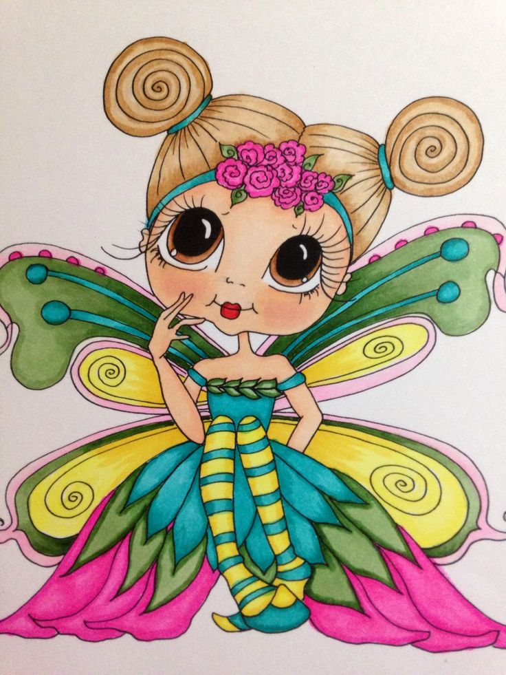 Besties by Sherri Baldy colored w/copics