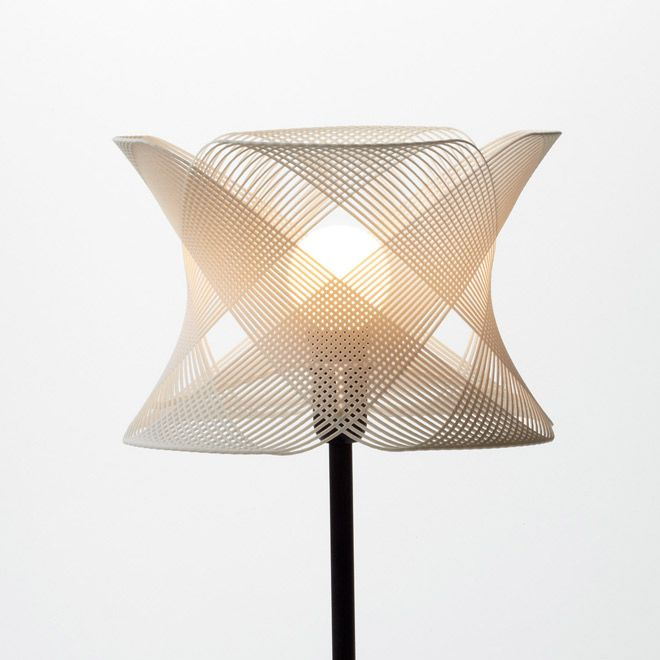 Clothoid.A, a lamp shade by Igor Knezevic of Alienology. Printed in nylon plastic by Shapeways ($360).