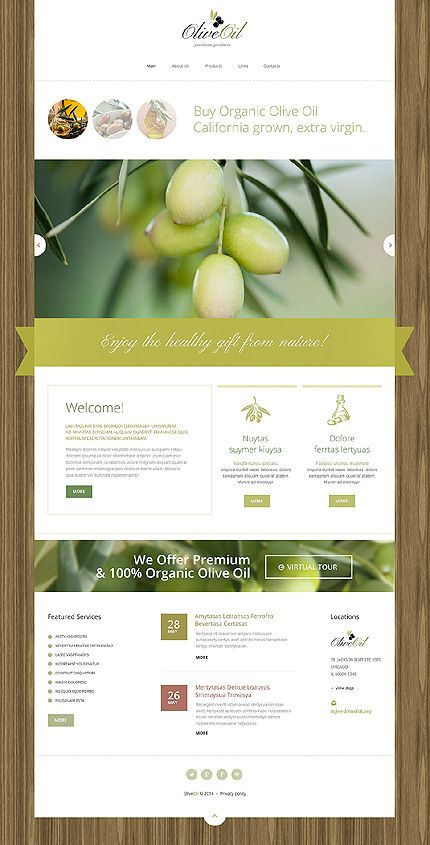 Template 48612 - Olive Oil  Responsive Drupal Template