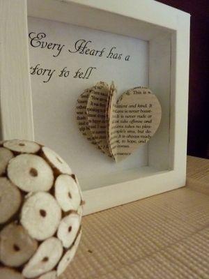 Book heart art - 25+ Valentine's Day Home Decor Ideas - NoBiggie.net