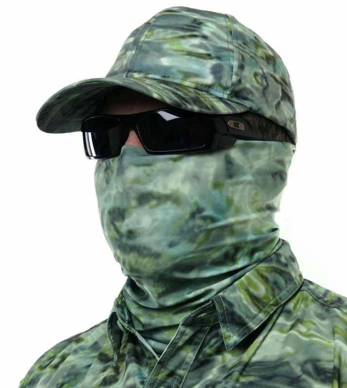SunGuard Fishing Hunting Camouflage Face Mask UPF Sun Tube