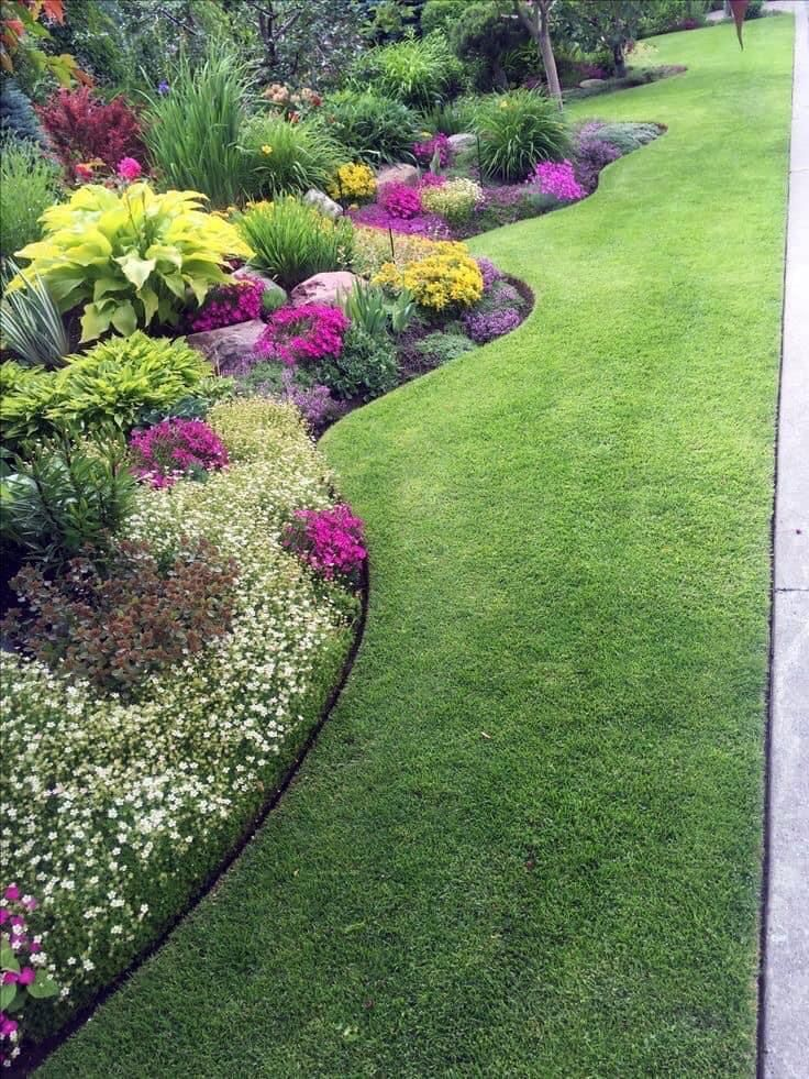Pin By Chandler On Front Yard Gardens Garden Design Layout Landscaping Small Yard Landscaping Garden Design
