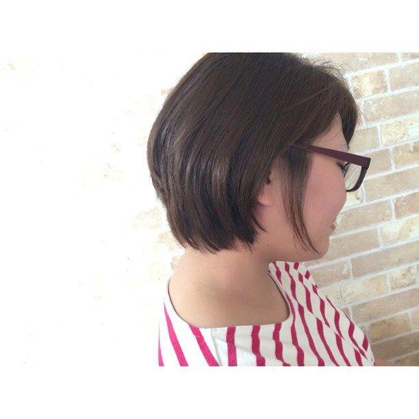 本日もショートスタイルいかせて頂きました #美容室 #creer_for_hair#鹿児島市#鴨池#お客様 #ショートスタイル#夏スタイル #throwカラー #グレージュ #ブルージュ #ベリピ #撮影モデル募集中 #サロンモデル募集中