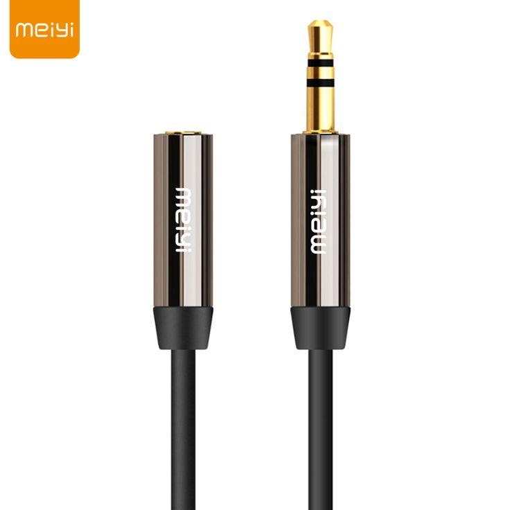 MEIYI 3.5mm Jack Aux Cable de Audio Macho a Hembra de Extensión Aux Chapado En Oro de Cable Auxiliar de Cable para el Coche/Teléfono/Reproductores de Medios