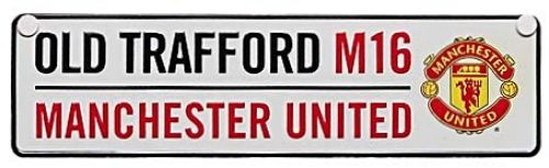 Manchester United Small Street Sign OLD TRAFFORD M16