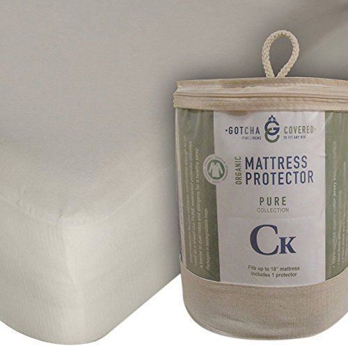 gotcha the pure collection organic cotton jersey mattress protector queen natural you can get
