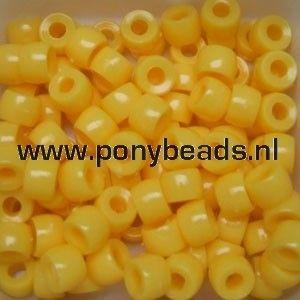 Haarkralen zonnegeel / Pony beads yellow sun