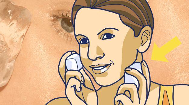6 Cosas que te ocurren al ponerte un cubito de hielo en la cara