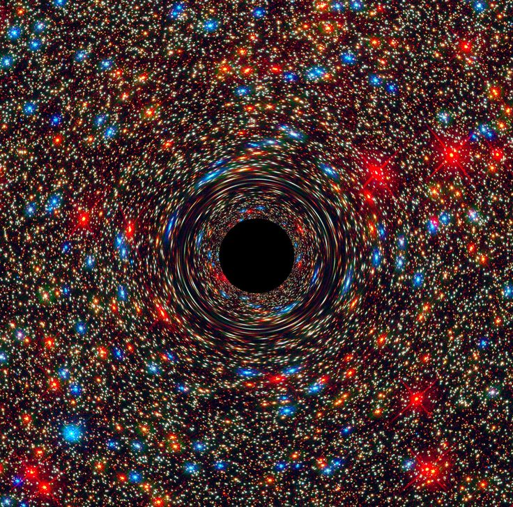 Computer-Simulated Image of a Supermassive Black Hole