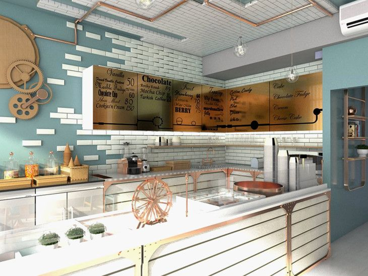 Fresh Design On Ice Cream Shop Interior Design Ideas For Use