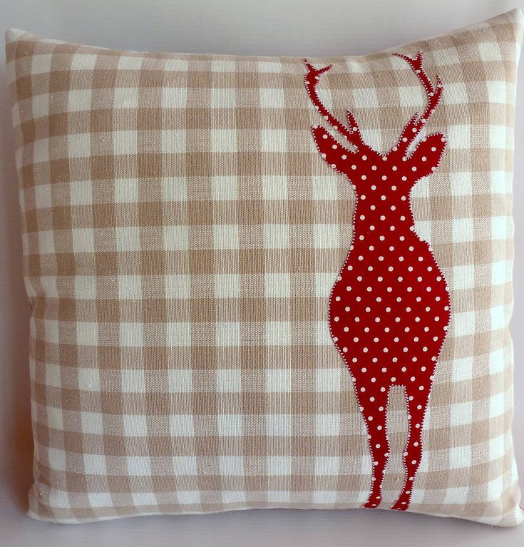 Christmas Stag Cushion