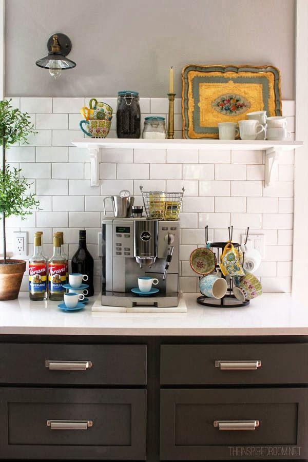 Fall Nesting {Pretty Mugs U0026 Fancy Coffee Station}   The Inspired Room