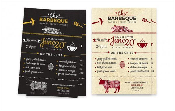 31 Printable Menu Designs Free Psd Pdf Format Download Barbeque Invitations Menu Design How To Grill Steak