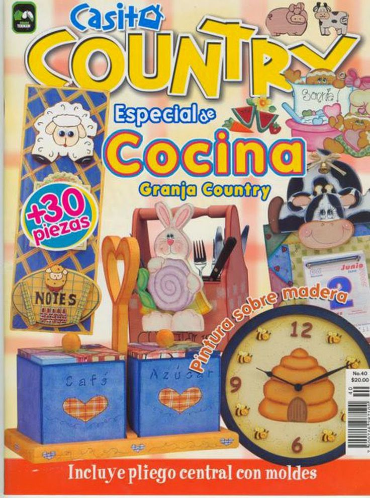 Revistas de manualidades gratis: manualidades country para la cocina