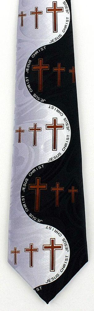New Into The Light Mens Necktie Jesus Christ Christian Religious Black Neck Tie #StevenHarris #NeckTie