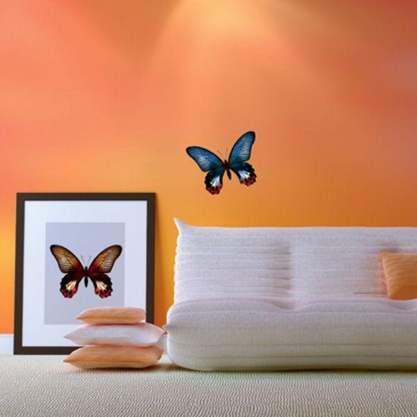 "Наклейки для стен ""Бабочки дуэт"" http://decoretto.ru/babochki-dekor-sten-babochkami/babochki-duet/"