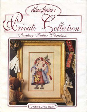 Counted Cross Stitch Pattern #Fantasy #Father #Christmas Free Shipping. This design is best suited for stitching over 2 threads on 32ct. linen. Embellishments such as threads and glass beads are not included. This design is from the Alma Lynne's private collection dated 1992. Price is 5.95