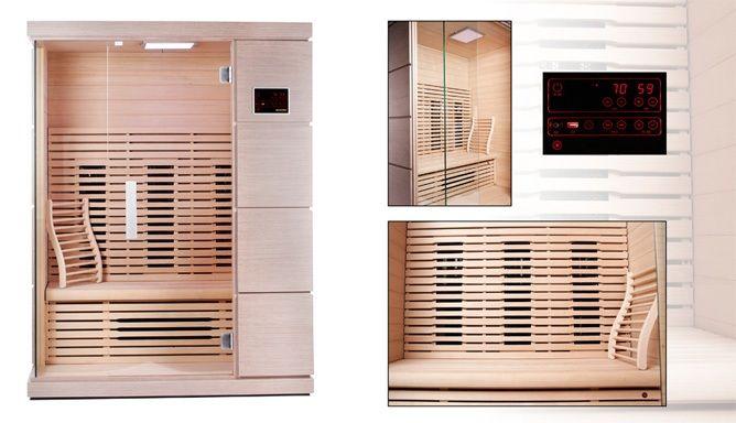 Design infrarood sauna voor 3-persoons