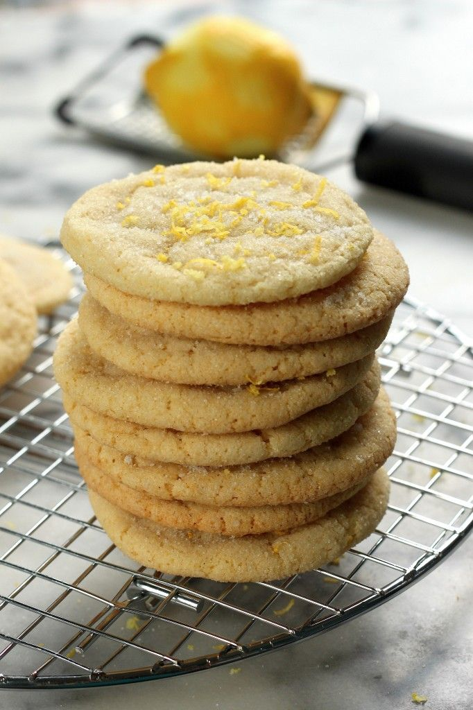 Lemon Coconut Sugar Cookies - The softest, chewiest sugar cookies! With a subtle hint of lemon and coconut. Perfect for #Easter.