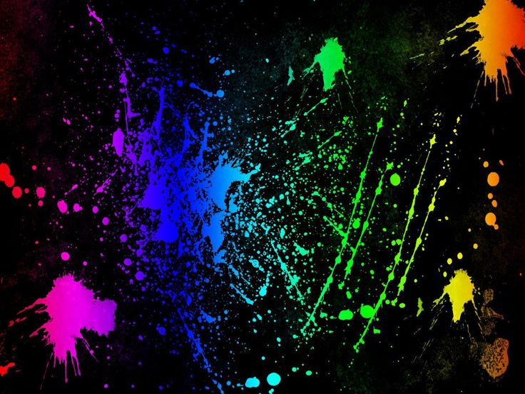 Splatter - Neon Colors Rock Wallpaper (18995953) - Fanpop fanclubs