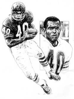 Gale Sayers Chicago Bears Lithograph by HOFGROUP on Etsy