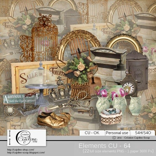 CAJOLINE-SCRAP: Elements CU - 64