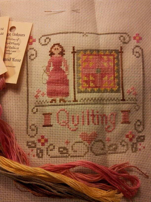 """""""Quilting"""" Little House Needleworks."""