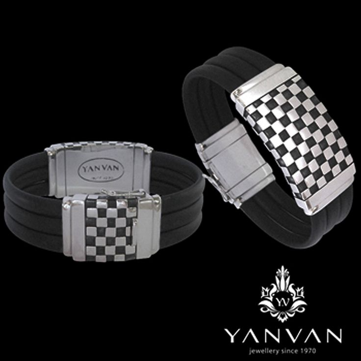 Chess serie...  925 sterling silver & black genuine rubber created by renown Dutch jeweller...  kayan@indo.net.id