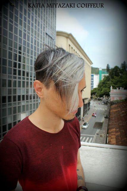 Katia Miyazaki Coiffeur - Salão de Beleza em Floripa: cabelo platinado - masculino - loiro acinzentado -...