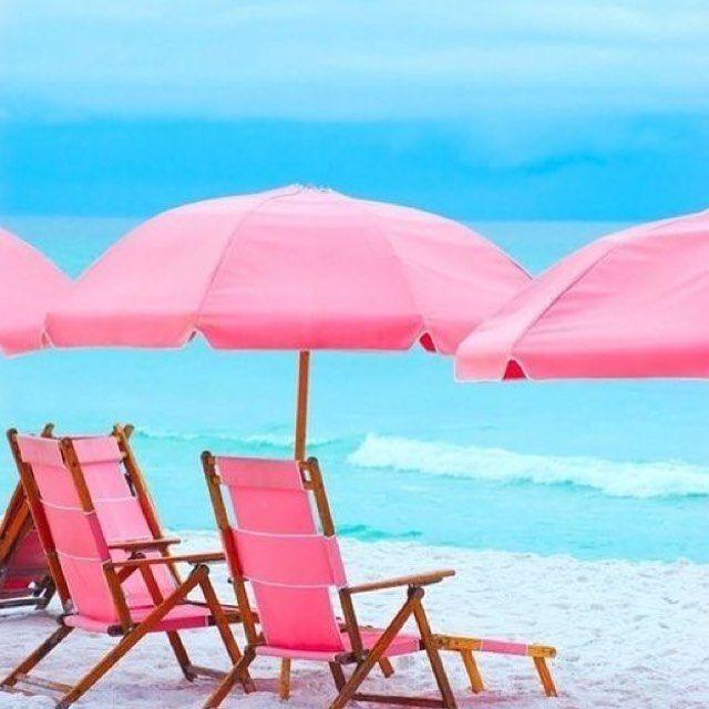 Já pode ser final de semana? Queremos sol, sal e mar  #goodmorning #beach #pink #loveit #paradise #weekendvibes #sun