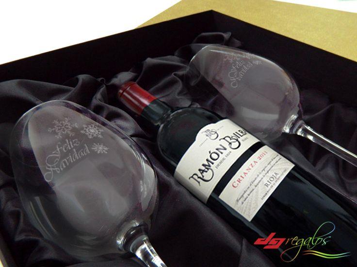 Pack enólogo con botella de vino reserva 2011 Bodegas Ramón Bilbao grabado a láser.