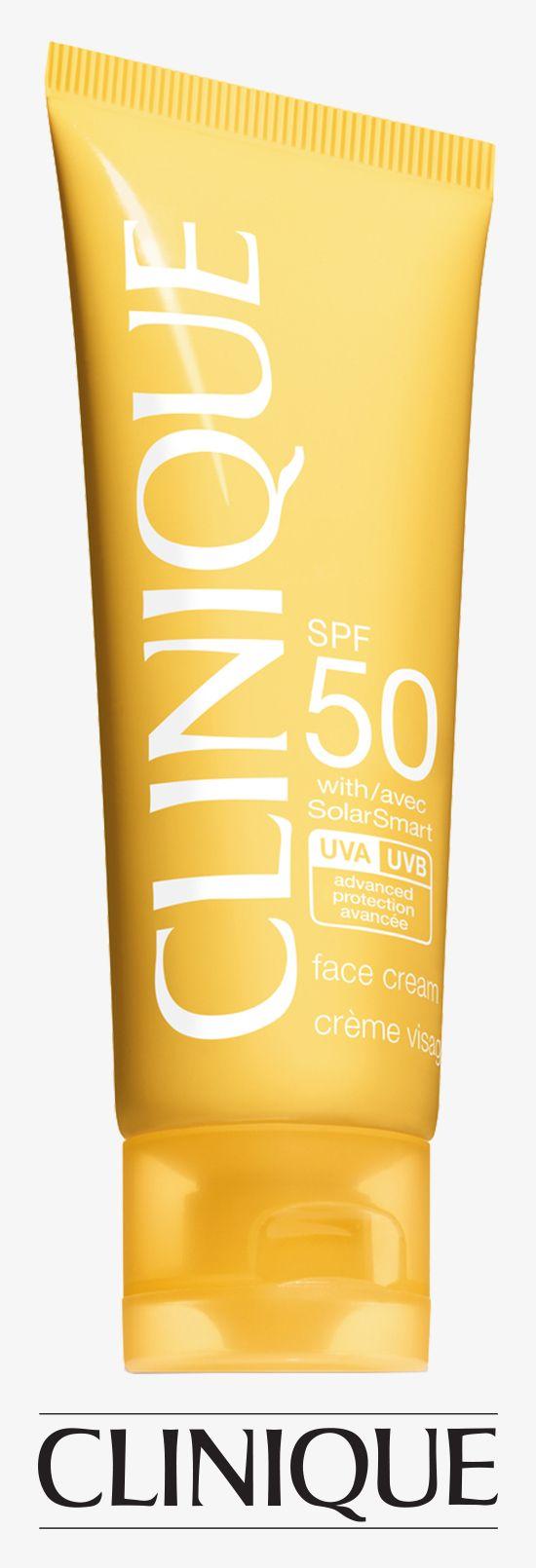 Strong #sun protection gentle enough for sensitive skins. #Clinique Sun Broad Spectrum SPF 50 Sunscreen Face Cream.