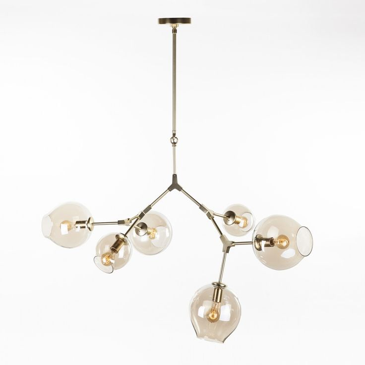 Six Globe Branching Bubble Ceiling Lamp - Gold
