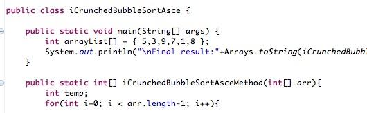 Java: Bubble Sort Algorithm [Ascending Order] Sample