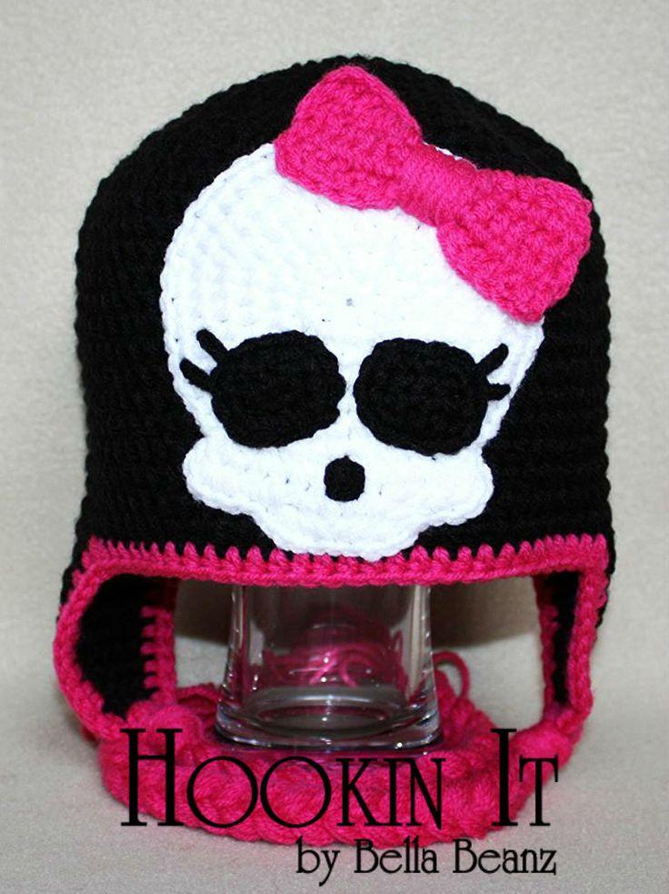 Monster High Inspired Crocheted Hat