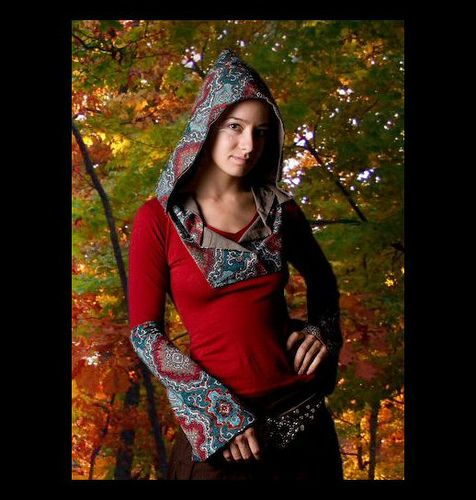 Elf Clothes | ... Elf Hood and tribal wrist cuffs with cool collar...Elf Clothing by